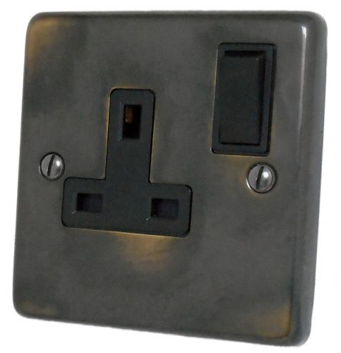 G&H CAN9B Standard Plate Polished Aged Brass 1 Gang Single 13A Switched Plug Socket